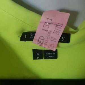 Theory Tops - bright yellow theory top